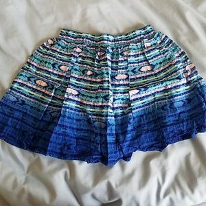 H&m Blue and Pink print skirt